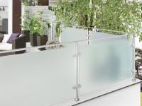 Satiniertes Glas oder Milchglas für Terrasse, nach Maß produziert