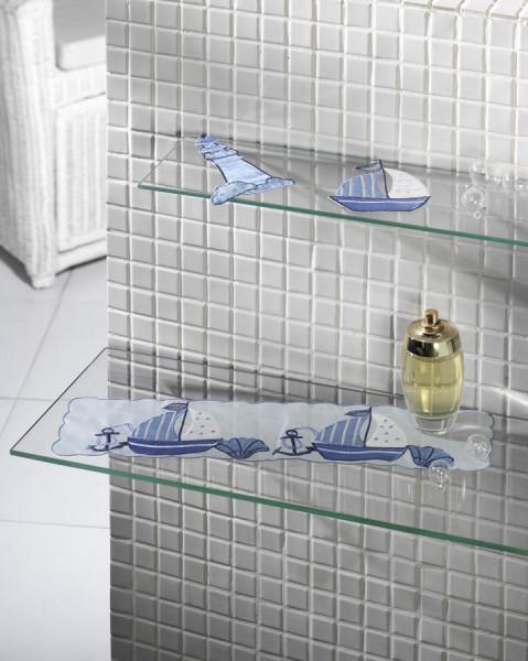 ESG Einscheiben Sicherheitsglas, Regalboden, eckig oder rund, ab 4 mm Glasdicke, als Klarglas, satiniert, Weißglas