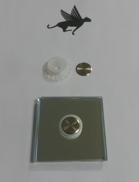 Flächenbündiger Punkthalter incl. Deckscheibe vernickelt, für 6-8 mm Glas transparent