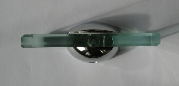 Glasplattenträger abgerundet, 40 mm, für 7 - 10 mm Platten, glanzverchromt