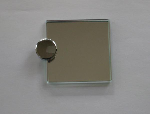 Spiegelhalterung 20 mm, für 6 mm Glas, glanzverchromt