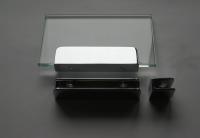 Glasplattenträger U-Form, 100 mm, für 6 - 10 mm Platten, glanzverchromt